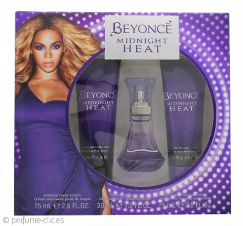 Beyonce Midnight Heat Set de Regalo 30ml EDP + 75ml Loción Corporal + 75ml Gel de Ducha