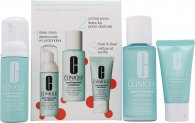 Clinique Anti-Blemish Solutions 3-Step System Set de Regalo 50ml Espuma Limpiadora + 100ml Loción Clarificante + 30ml Tratamiento Limpiador