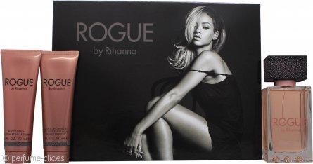 Rihanna Rogue Set de Regalo 125ml EDP + 90ml Loción Corporal + 90ml Gel de Ducha