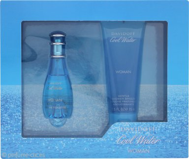 Davidoff Cool Water Woman Set de Regalo 30ml EDT Vaporizador + 75ml Gel de Ducha