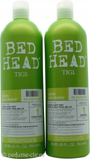 Tigi Duo Pack Bed Head Urban Antidotes Re-Energize 750ml Champú + 750ml Acondicionador
