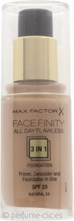 Max Factor Facefinity All Day Flawless 3 in 1 Base 30ml - FPS 20 Natural 50