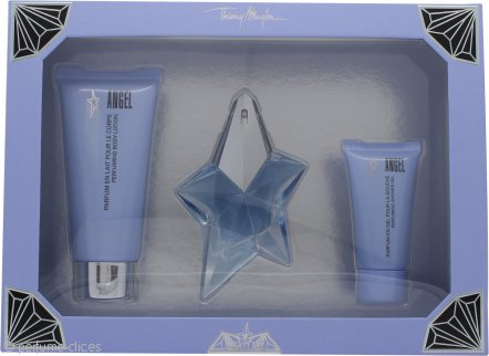 Thierry Mugler Angel Set de Regalo 25ml EDP + 100ml Loción Corporal + 30ml Gel de Ducha