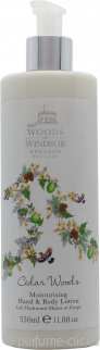 Woods of Windsor Cedar Woods Loción Hidratante Manos y Cuerpo 350ml