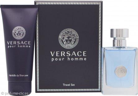 Versace New Homme Set de Regalo 50ml EDT + 100ml Champú de Pelo y Cuerpo