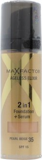 Max Factor Ageless Elixir Base 2 en 1 + Serum 30ml – Beige Perla