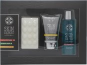 Style & Grace Skin Expert For Him Set de Regalo Pack de Cuidado 120ml Bálsamo Aftershave + 120ml Gel de Cuerpo y Cabello + 100g Jabón Masaje