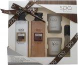 Style & Grace Experiencia Baño Spa Set de Regalo 250ml Crema de Baño + 200ml Loción Corporal +  15ml EDP + 2 x 65g Vela
