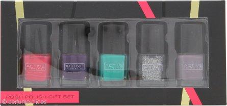 Active Cosmetics Posh Polish Set de Regalo 5 x 7ml Esmaltes de Uñas