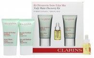 Clarins Truly Matte Discovery Kit Set de Regalo 15ml Loción Hydra-Matte + 15ml Máscara Pura y Radiante + 5ml Aceite Tratamiento Facial Loto