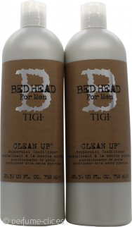 Tigi Duo Pack Bed Head For Men Clean Up 750ml Champú + 750ml Acondicionador