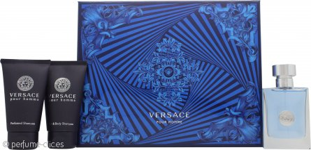 Versace Pour Homme Set de Regalo 50ml EDT + 50ml Champú Perfumado + 50ml Gel de Ducha Perfumado