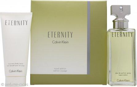 Calvin Klein Eternity Set de Regalo de Viaje 100ml EDP + 100m Loción Corporal