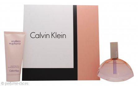 Calvin Klein Endless Euphoria Set de Regalo 75ml EDP Vaporizador + 100ml Loción Corporal