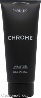 Yardley Chrome Gel de Pelo y Cuerpo 200ml