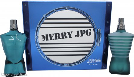 Jean Paul Gaultier Le Male Merry JPG Set de Regalo 125ml EDT + 125ml Loción Aftershave