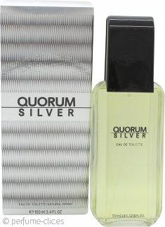 Antonio Puig Quorum Silver Eau De Toilette 100ml Vaporizador