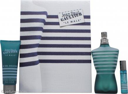 Jean Paul Gaultier Le Male Gift Set 125ml EDT + 75ml All-Over Gel de ducha + 9ml Vaporizador