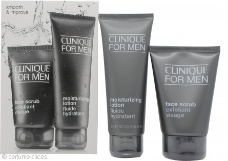 Clinique for Men Smooth and Improve Set de Regalo 100ml Exfoliante Facial + 100ml Loción Hidratante