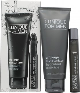 Clinique for Men Anti Age & Fatigue Set de regalo 100ml Loción Hidratante Anti-Edad + 15ml Gel Anti-Fatiga Ojos
