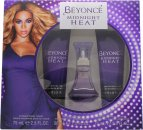Beyonce Midnight Heat Set de Regalo 30ml Eau de Parfum + 75ml Loción Corporal + 75ml Crema Ducha
