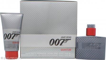 James Bond 007 Quantum Set de Regalo 30ml EDT Vaporizador + 50ml Gel de Ducha