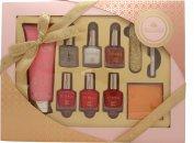 Style & Grace Utopia Set de Regalo Cuidado Manos 100ml Crema Manos + 5 x 8ml Esmalte de Uñas + Lápiz de Uñas Blanco + Lima + Adhesivos Uñas