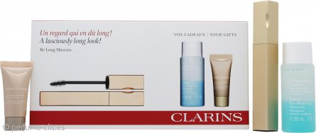 Clarins Be Long Set de Regalo 7ml Be Long Rímel Negro + 30ml Desmaquillante Ojos + 5ml Corrector