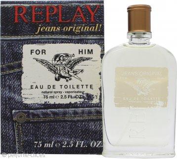Replay Jeans Original for Him Eau de Toilette 75ml Vaporizador