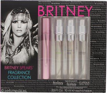 Britney Spears Set de Regalo Colección Fragancias 10ml EDP Fantasy + 10ml EDP Midnight Fantasy + 10ml EDP Curious