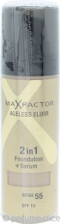 Max Factor Ageless Elixir Base 2 en 1 + Serum 30ml Beige 55