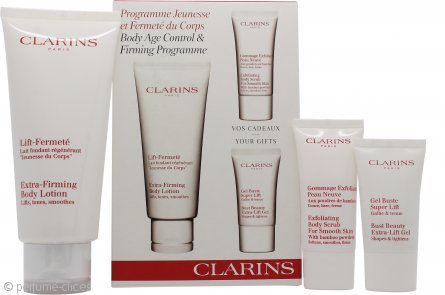 Clarins Set de Regalo 200ml Loción Corporal Extra-Afirmante + 30ml Exfoliante Corporal + 15ml Bust Beauty Gel Extra-Lifting