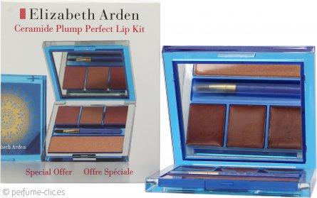 Elizabeth Arden Ceramide Plump Perfect Set de Regalo Labios 3 x 4g Labios Moldeado Perfecto + 3.5g Brillo Labios