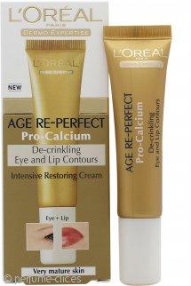 L'Oreal Age Re-Perfect Pro-Calcium Crema Contorno Ojos y Labios Anti-Arrugas 15ml Piel Muy Madura
