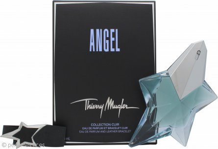 Thierry Mugler Angel Set de Regalo 50ml EDP Rellenable + Pulsera Cuero