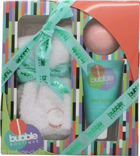 Style & Grace Bubble Boutique Set de Regalo Calcetines Par de Calcetines (Talla Única) + 90g Bomba de Baño + 70ml Loción de Pies