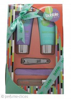Style & Grace Bubble Boutique Kit Cuidado para Manos 100ml Gel de Manos + 100ml Loción de Manos + 7ml EDP Roller + Lima de Uñas + Adhesivos Uñas