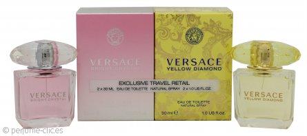 Versace Set de Regalo 30ml Yellow Diamond EDT + 30ml Bright Crystal EDT
