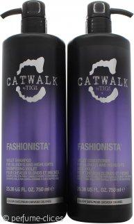 Tigi Catwalk Fashionista DUO Violeta 750ml Champú + 750ml Acondicionador