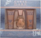 Guess Dare Set de Regalo 30ml EDT + 75ml Loción Corporal + 75ml Gel de Ducha