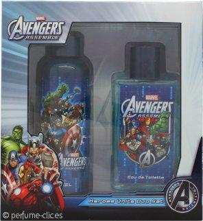 Marvel Avengers Assemble Set de Regalo 75ml EDT Vaporizador + 100ml Gel de Ducha