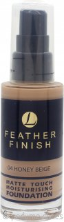 Lentheric Feather Finish Base Hidratante Toque Mate 30ml – Beige Miel 04