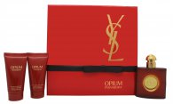 Yves Saint Laurent Opium Set de Regalo 50ml EDT + 50ml Loción Corporal + 50ml Gel de Ducha