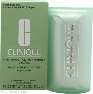 Clinique Cleansing Range Jabón Facial con Plato 100g Piel Grasa