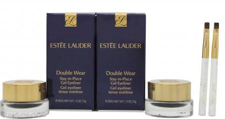 Estée Lauder Double Wear Lápiz de Ojos Duradero Set Dúo 2 x Vasitos Negro