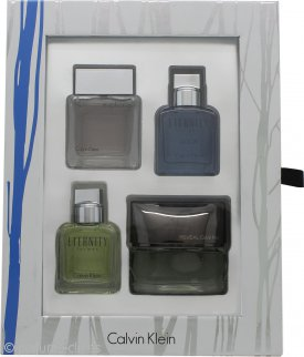 Calvin Klein Mini Set Gift Set 15ml Eternity Men + 15ml Euphoria Men + 15ml Eternity Aqua + 15ml Reveal
