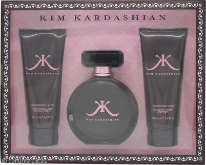 Kim Kardashian Set de Regalo 100ml EDP + 100ml Gel de Ducha + 100ml Loción Corporal