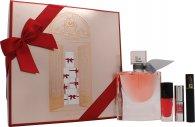 Lancome La Vie Est Belle Gift Set 50ml EDP Spray + 3ml Lip Lover 316 + Hypnuse Classic Mascara Mini + 6ml Vernish In Love 362B