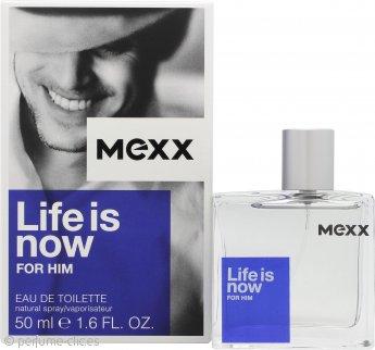 Mexx Life Is Now for Him Eau de Toilette 50ml Vaporizador