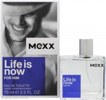 Mexx Life Is Now for Him Eau de Toilette 75ml Vaporizador